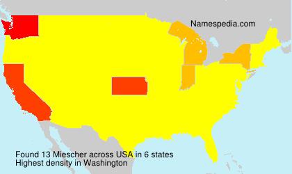 Surname Miescher in USA