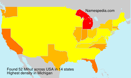 Surname Mihut in USA