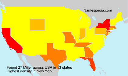 Surname Miiler in USA