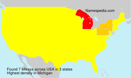 Surname Mikaya in USA