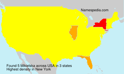 Familiennamen Mikielska - USA