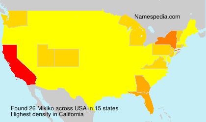 Surname Mikiko in USA