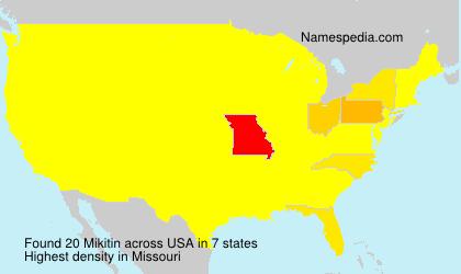 Surname Mikitin in USA