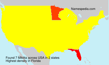 Surname Mikitta in USA