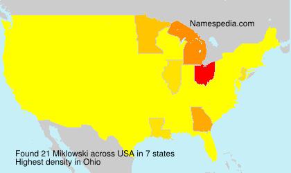 Surname Miklowski in USA