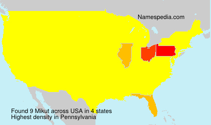 Surname Mikut in USA
