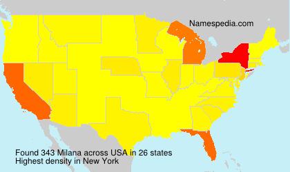 Familiennamen Milana - USA