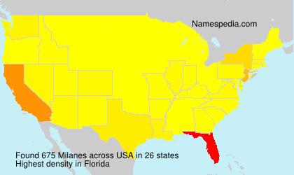 Familiennamen Milanes - USA