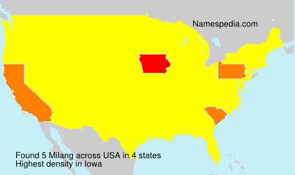 Surname Milang in USA