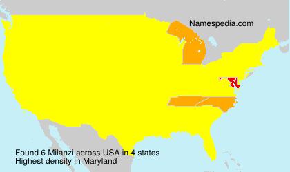 Surname Milanzi in USA