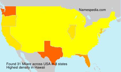 Familiennamen Milare - USA