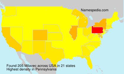 Surname Milavec in USA