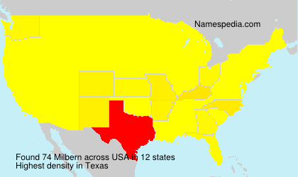 Surname Milbern in USA