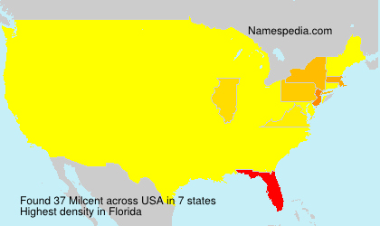 Surname Milcent in USA