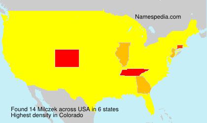 Familiennamen Milczek - USA