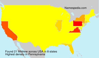 Surname Mildrew in USA