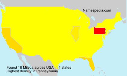 Familiennamen Mileca - USA