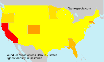 Surname Milias in USA