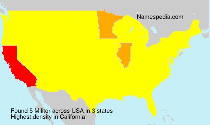 Surname Militor in USA