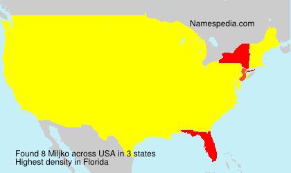 Surname Miljko in USA