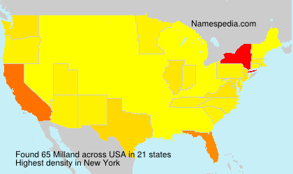 Surname Milland in USA