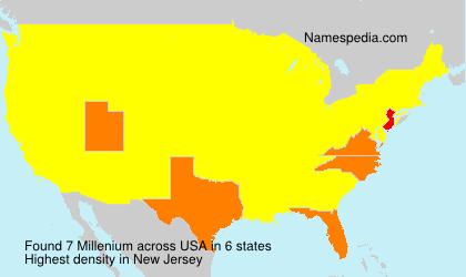 Surname Millenium in USA