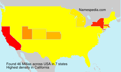 Surname Millias in USA