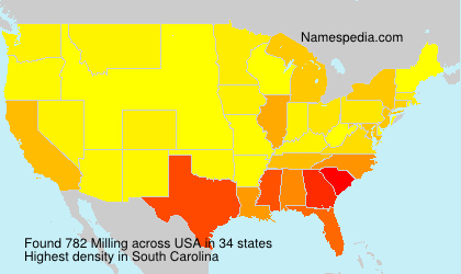 Surname Milling in USA
