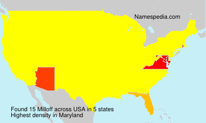 Surname Milloff in USA