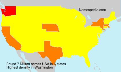 Surname Millton in USA