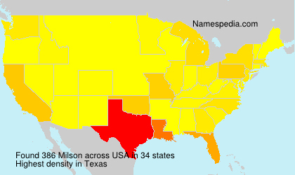 Surname Milson in USA