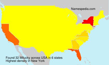 Surname Milucky in USA