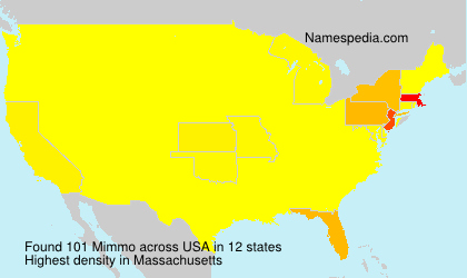 Surname Mimmo in USA
