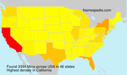 Surname Mina in USA