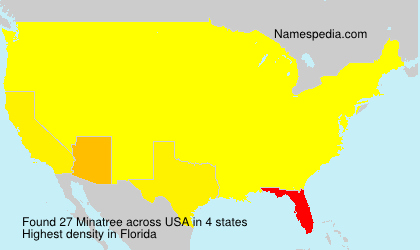 Surname Minatree in USA
