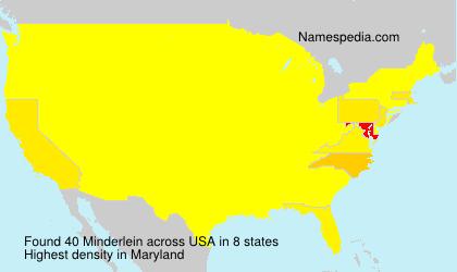 Familiennamen Minderlein - USA