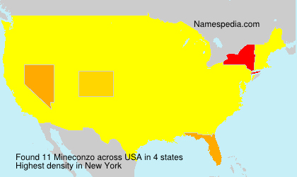 Surname Mineconzo in USA
