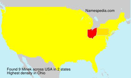 Surname Minek in USA