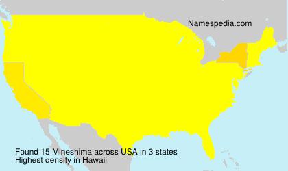 Familiennamen Mineshima - USA