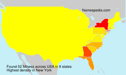 Surname Miness in USA