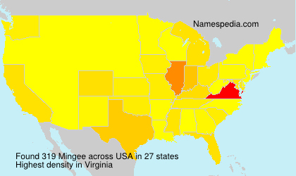 Surname Mingee in USA