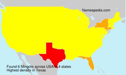 Surname Mingote in USA