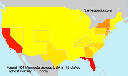 Surname Minguela in USA