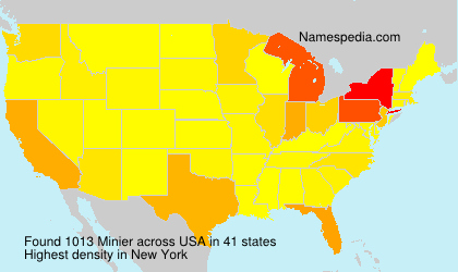 Surname Minier in USA