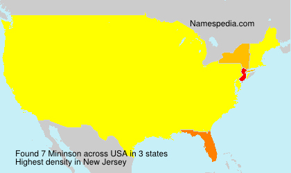 Surname Mininson in USA