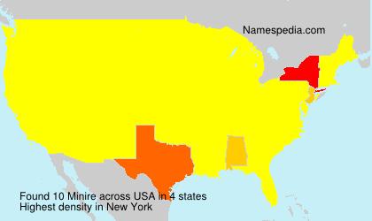 Surname Minire in USA