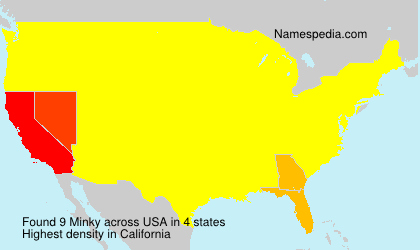 Surname Minky in USA