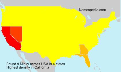 Familiennamen Minky - USA