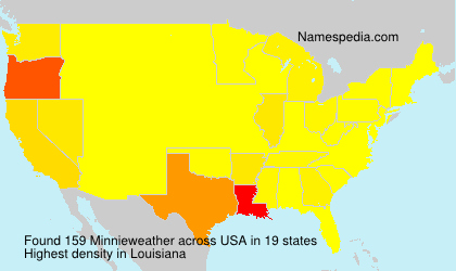 Familiennamen Minnieweather - USA
