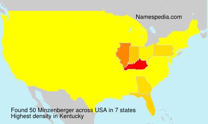 Surname Minzenberger in USA